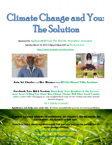 Climate Change and You the Solution Facebook Livestream